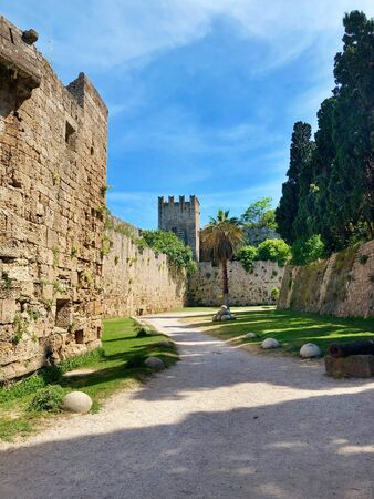 Walls of Palace of the Grand Master of the Knights of Rhodes, Rodos, Greece
