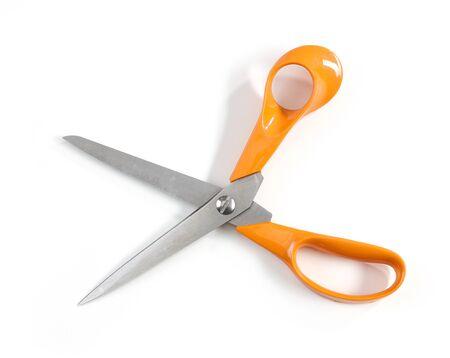 scissors isolated on white background, top view Zdjęcie Seryjne