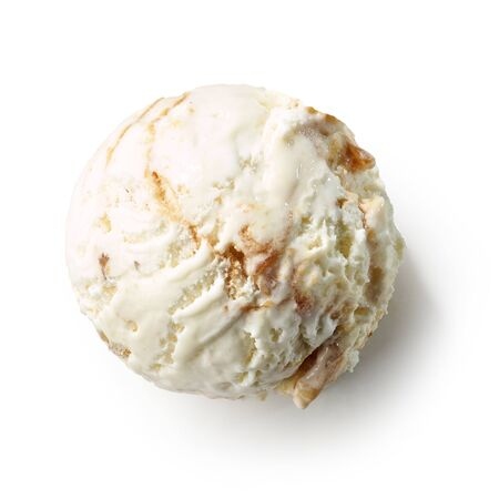 Ice cream ball isolated on white