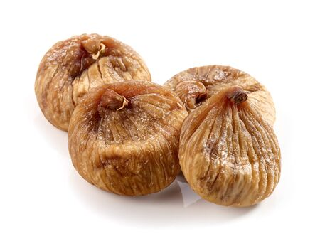 dried figs macro isolated on white background