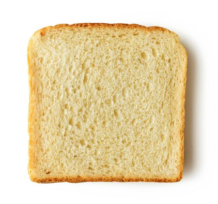Slice of bread isolated on white