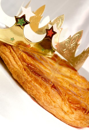 king and queen: pastry, cake, frangipane, almond, crown, epiphany, party, king, queen, tradition