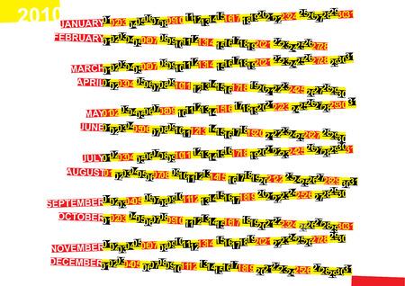 Calendar 2010 Stock Vector - 5846381