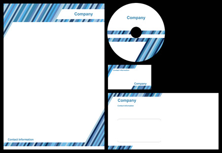 Corporate identity package with business card, letterhead, envelope and cd. Illustration