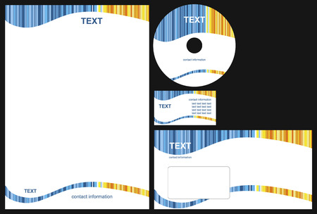 Business package with business card, letterhead, envelope and cd. Stock Vector - 6531221