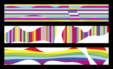 3 colorful banners for your web site Vector