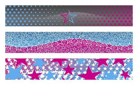 3 banners with stars for your web site photo