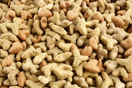 pappy: Close up image of dry cat food