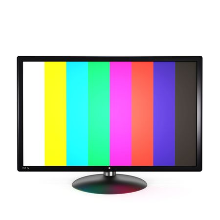 Flat screen tv isolated on white background. 3d render.