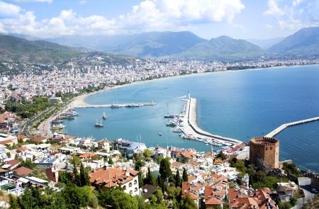 tacchino: Panorama del famoso luogo di villeggiatura in Turchia, Alanya