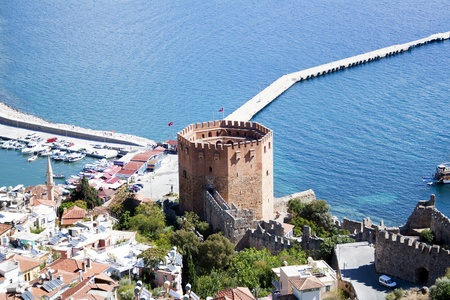 Red Tower in Alanya, Turkey Stock Photo - 8272491