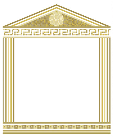 Illustration of Greek columns with mosaic on top Stock Vector - 8660097