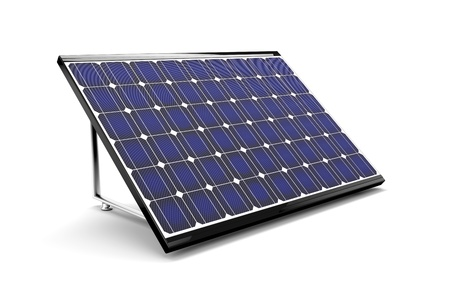 solar equipment: Solar panel isolated on white background. 3d image. Stock Photo