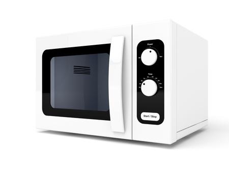 microondas: Horno de microondas sobre fondo blanco