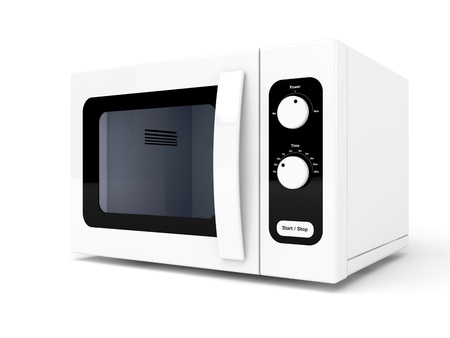 microwave: Microwave oven on white background