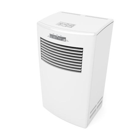 aire acondicionado: Acondicionador de aire m�vil sobre fondo blanco