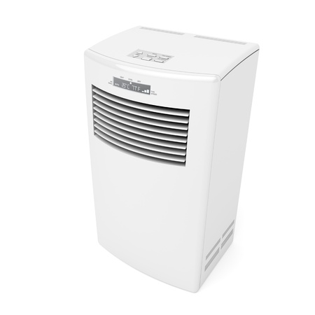 condicionador: Mobile air conditioner on white background
