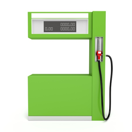 gas pump: 3d image of fuel pump on white background Stock Photo