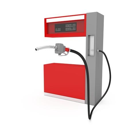 tanque de combustible: Imagen en 3D de la bomba de combustible en el fondo blanco Foto de archivo