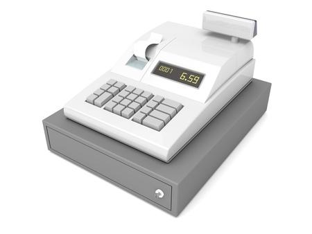 caja registradora: Caja registradora con caj�n cerrado