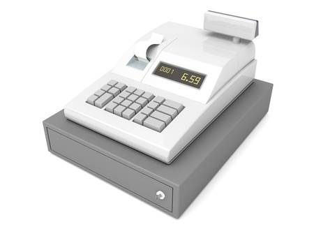 cash register: Cash register with closed drawer