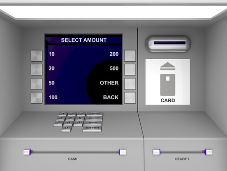 automatic transaction machine: Los detalles de cajero automático gris