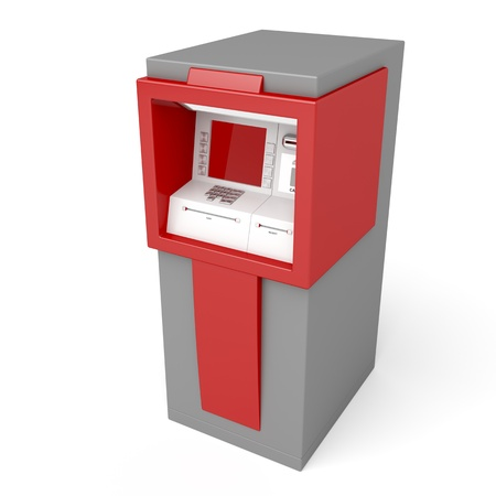 3d illustration of ATM on white background illustration