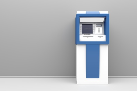 3d illustration of cash machine