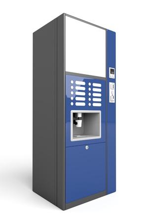 Machine à café automatique sur fond blanc