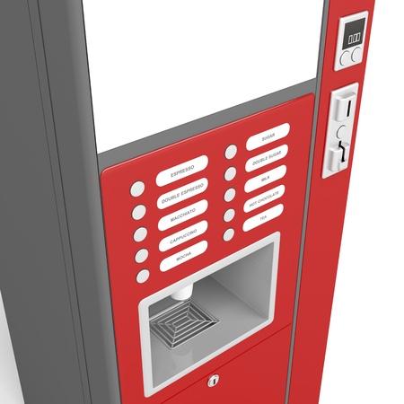 vending machine: Details of coffee vending machine Stock Photo