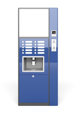 Front view of vending machine