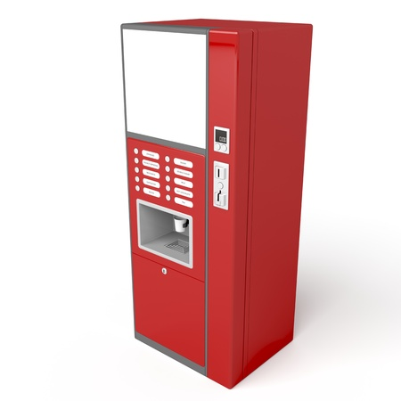 Coffee vending machine on white background, 3d image photo