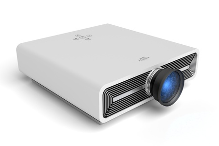 Modern projector on white background