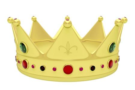 왕: 로얄 크라운에 격리 된 화이트 스톡 사진