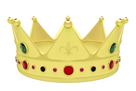 king crown: Royal crown isolated on white Stock Photo