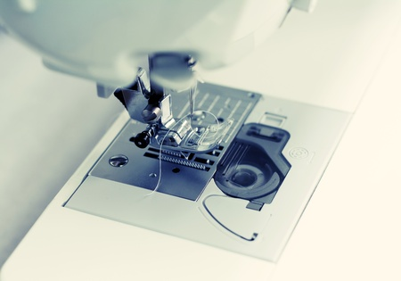 Detail of a sewing machine photo