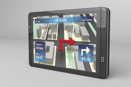 3d illustration of GPS navigation device illustration
