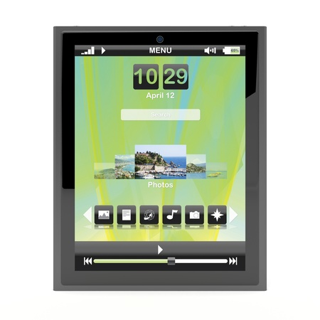 Tablet pc on white background Stock Photo - 12163863