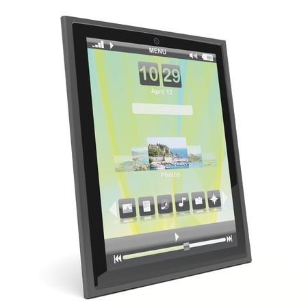 Modern tablet pc on white background Stock Photo - 12163861