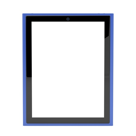Tablet pc with empty screen isolated on white Stock Photo - 12163867