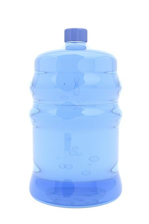 liter: Big bottle of mineral water isolated on white