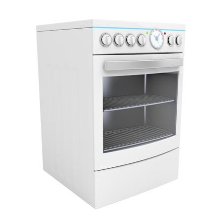 estufa: Cocina eléctrica aislado en blanco