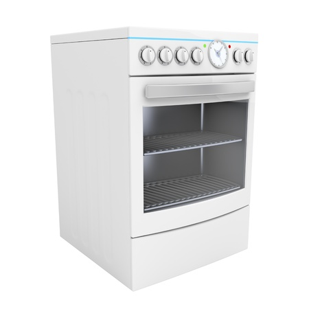 Electric cooker isolated on white Stock Photo - 12459842