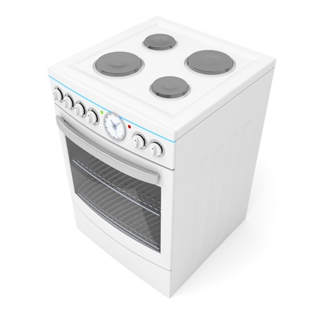 Electric stove on white background
