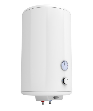 Water heater isolated on white photo