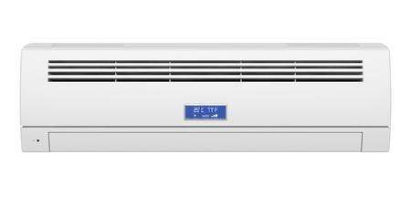 白い背景と、正面に分離されたエアコン 写真素材