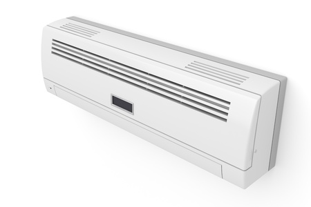 Air conditioner on white wall photo