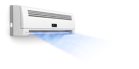 Air conditioner blowing cold air photo
