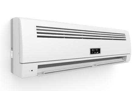 aire acondicionado: Split-sistema de aire acondicionado en la pared blanca Foto de archivo