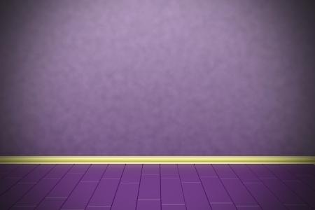 Lege paarse muur met vignetteneffect Stockfoto